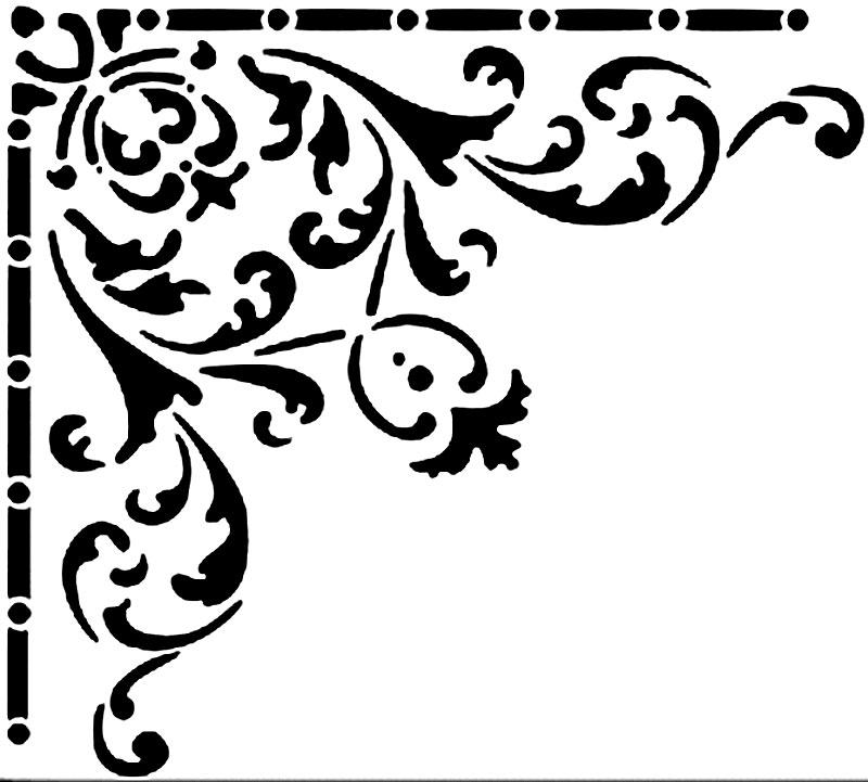 Трафареты для потолка своими руками распечатать