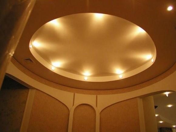 Фото дизайна потолка из гипсокартона в прихожей