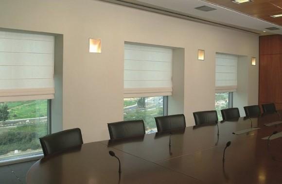 Фото римских занавесок для офиса