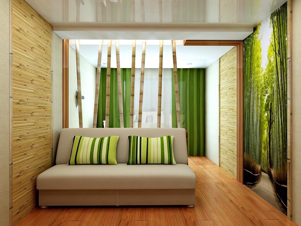 дизайн бамбуковых обои в интерьере фото