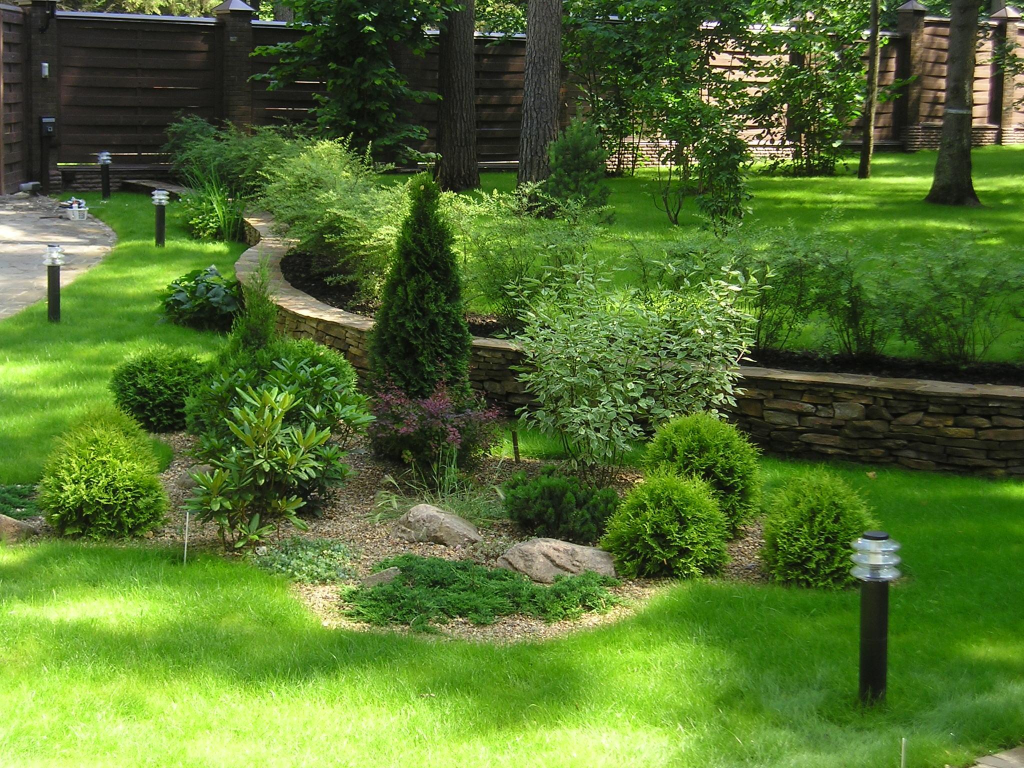 Ландшафтный дизайн загородного дома калуга
