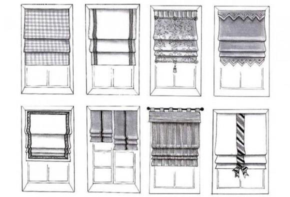 шторы фото эскизов
