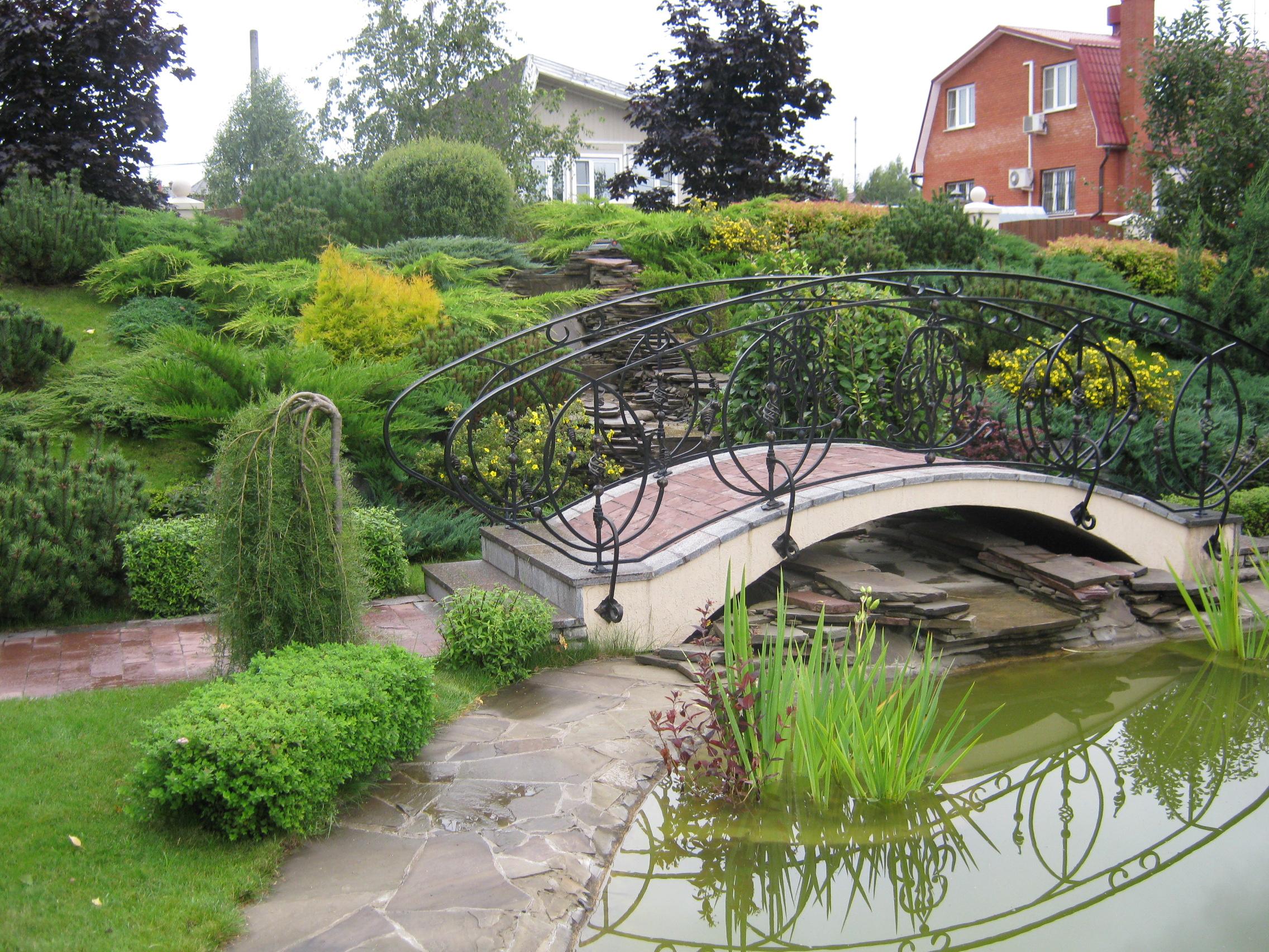 картинки мостика садового участка ниткой или проволокой