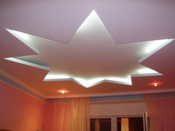 Фото дизайна потолка из гипсокартона в гостиной