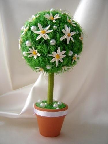 Работа мастера цветы топиарий своими руками