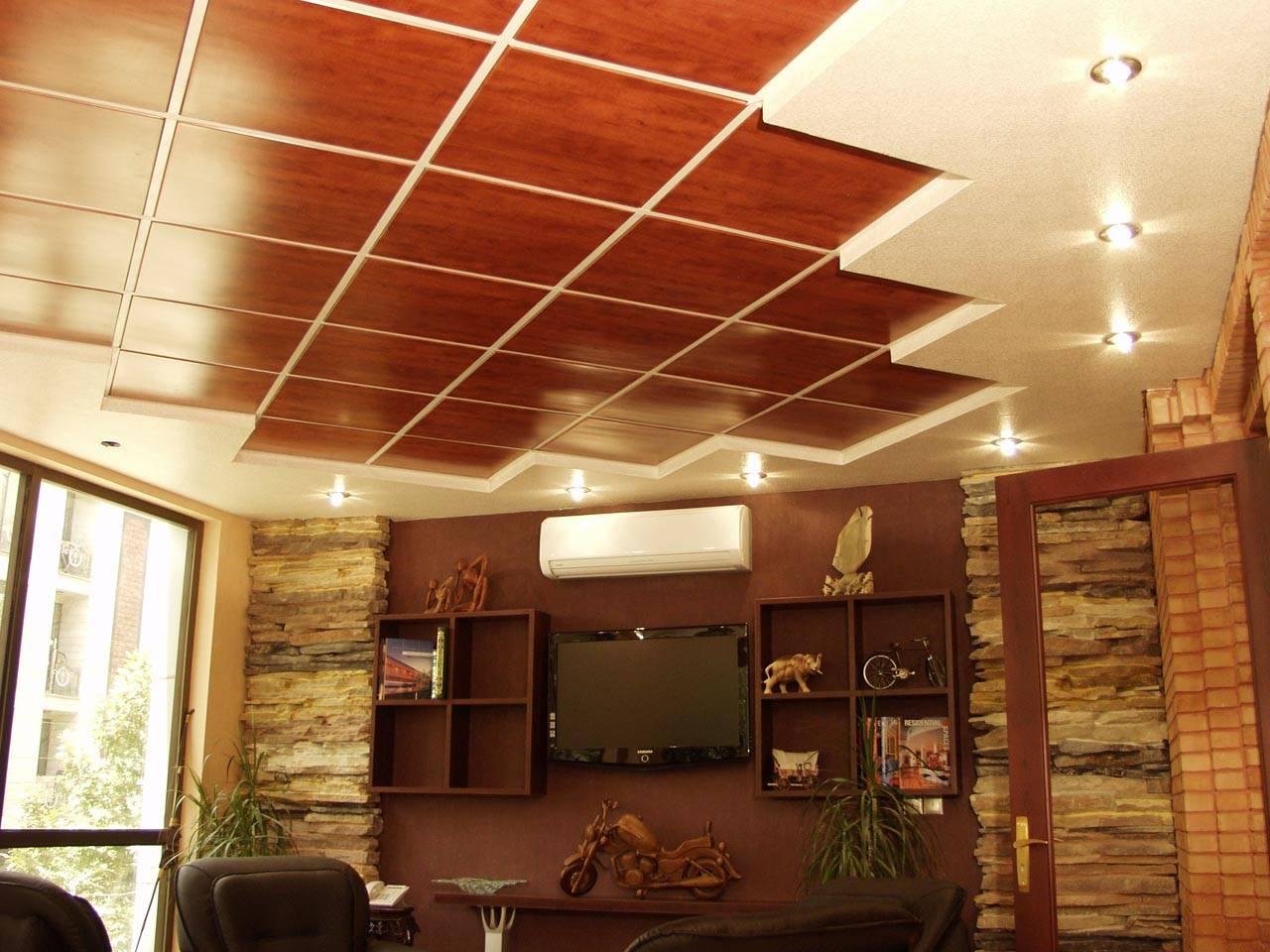 Подвесные потолки для кухни: монтаж своими руками 95