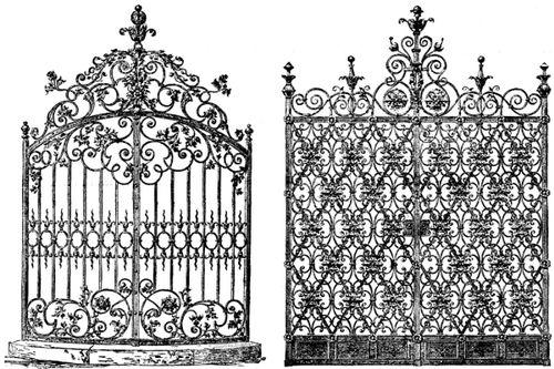 фото кованных ворот, пример