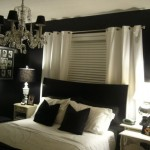 Luxury Best Bedroom Colors Black Bed Frame White Curtain White Table