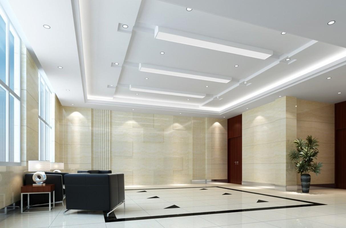 подвесные потолки из гипсокартона фото для зала для перевозки