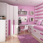Cute-White-Pink-Striped-Wallpaper-with-White-Pink-Wood-Day-Bed-combined-Under-Storage-Bed-and-Curved-Shaped-White-Wood-Closet-also-White-Wood-Study-Table-plus-White-Plastic-Chairs-600x50