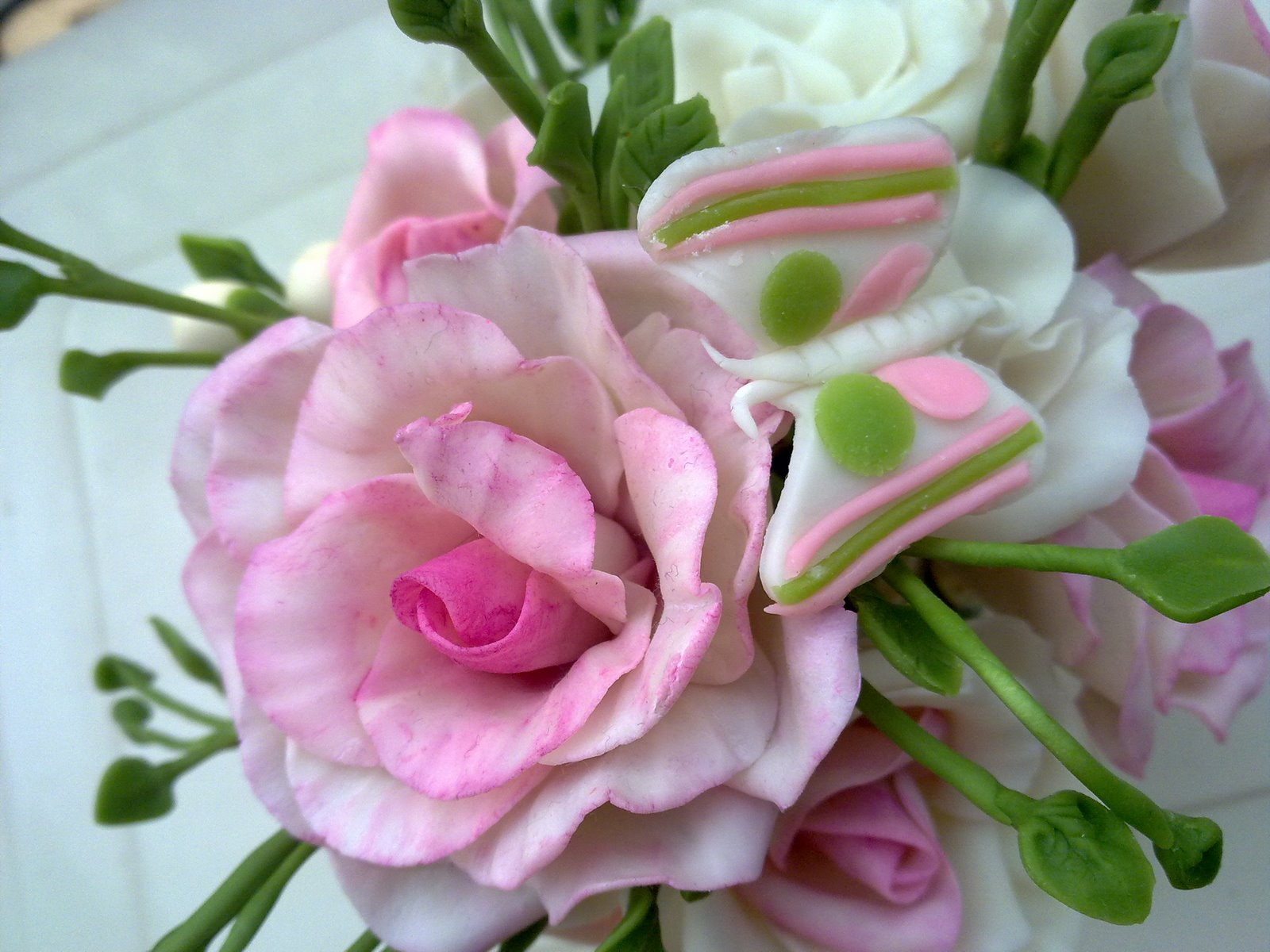 Фото цветы из холодного фарфора своими руками
