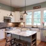 Innovative-Mohawk-Tile-mode-Other-Metro-Farmhouse-Kitchen-Decoration-ideas-with-Alaskan-White-apron-sink-backsplash-bamboo-floors-bar-stool-Custom-Cabinetry-custom-made-farmhouse-kitchen
