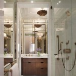 Marvelous-bathroom-interior-design-in-modern-apartment-New-York-USA-with-shiny-and-bright-style-equipped-wooden-vanity-mirror-plus-glass-shower-lines-ideas