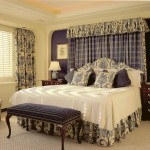 Modern-Curtain-For-Bedroom-Decorating-Ideas-With-Classic-Table-Lamp-Bedside-And-White-Wall-Paint-Color-Also-Using-Floor-Rugs