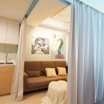 Tiny-apartment-Singapore-living-area-curtains