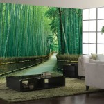 bamboo-forest-wall-mural-ideas-for-living-room-decor