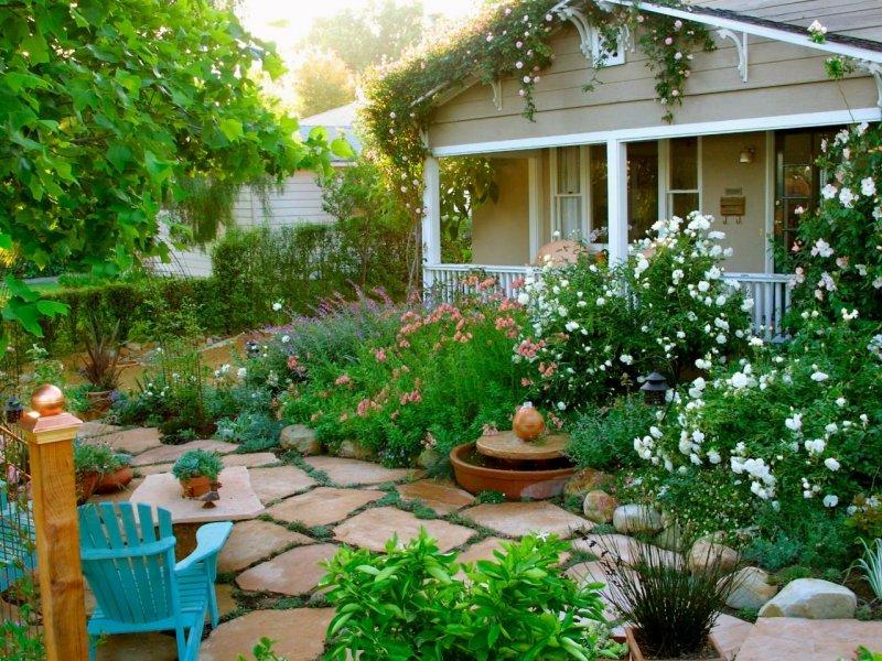 Красивые дома с садом фото
