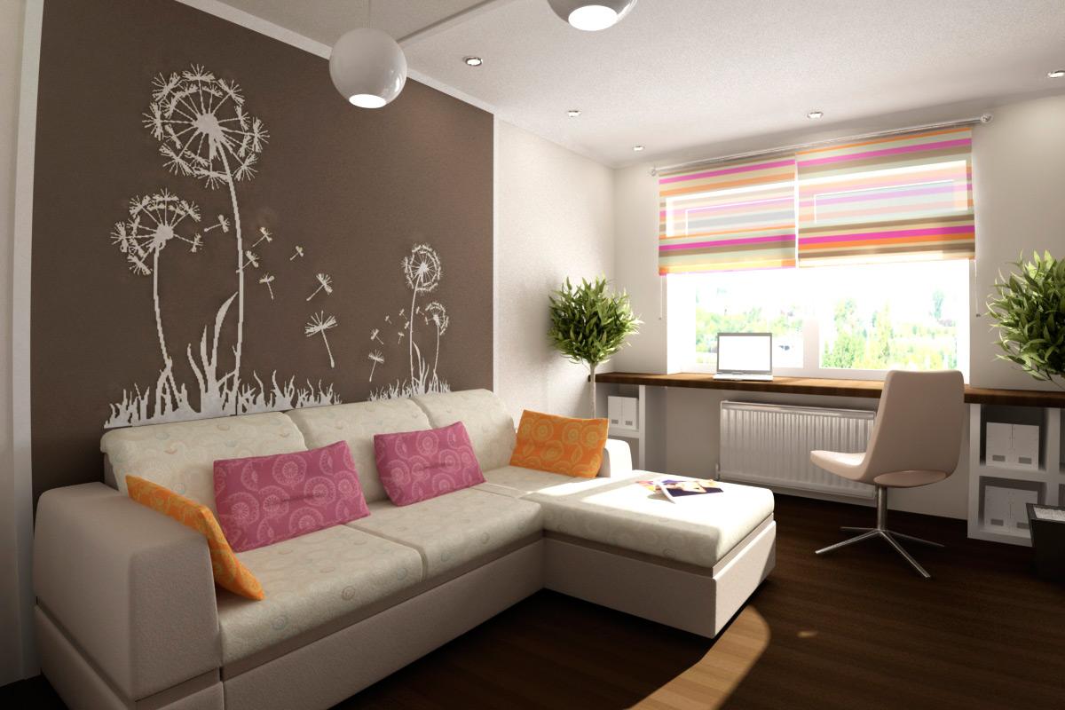 чем ниже оформление гостиной в однокомнатной квартире фото понимаем