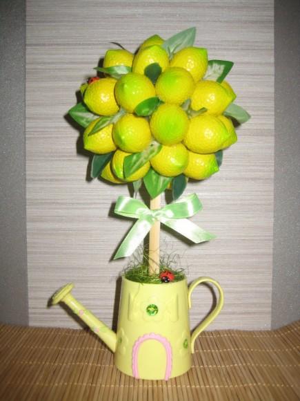 Мастер класс работы топиария лимонного дерева своими руками