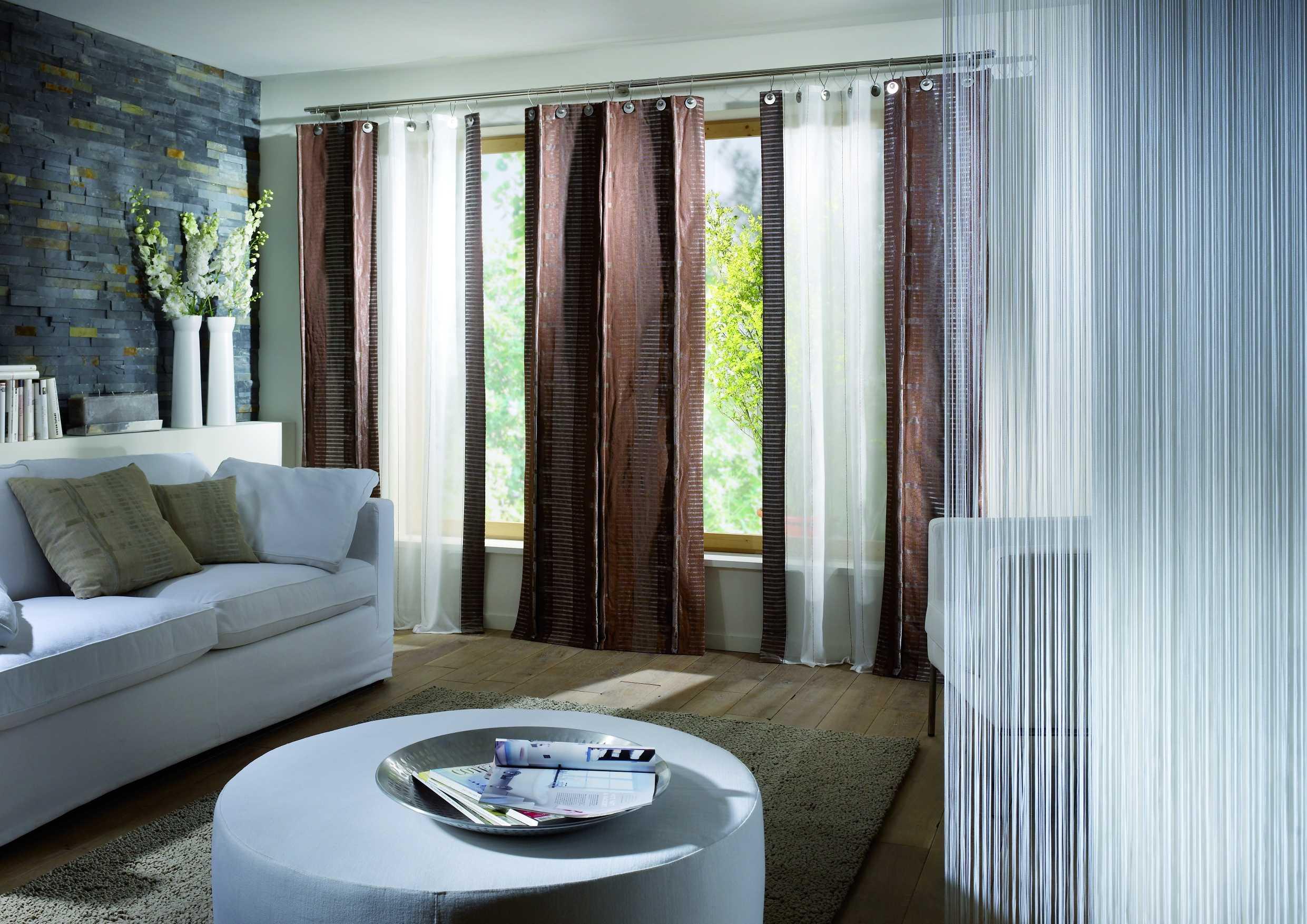 фото штор для гостиной в современном стиле случае