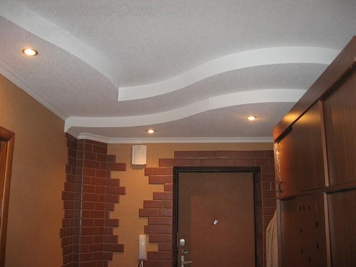 Дизайны потолков из гипсокартона прихожие фото