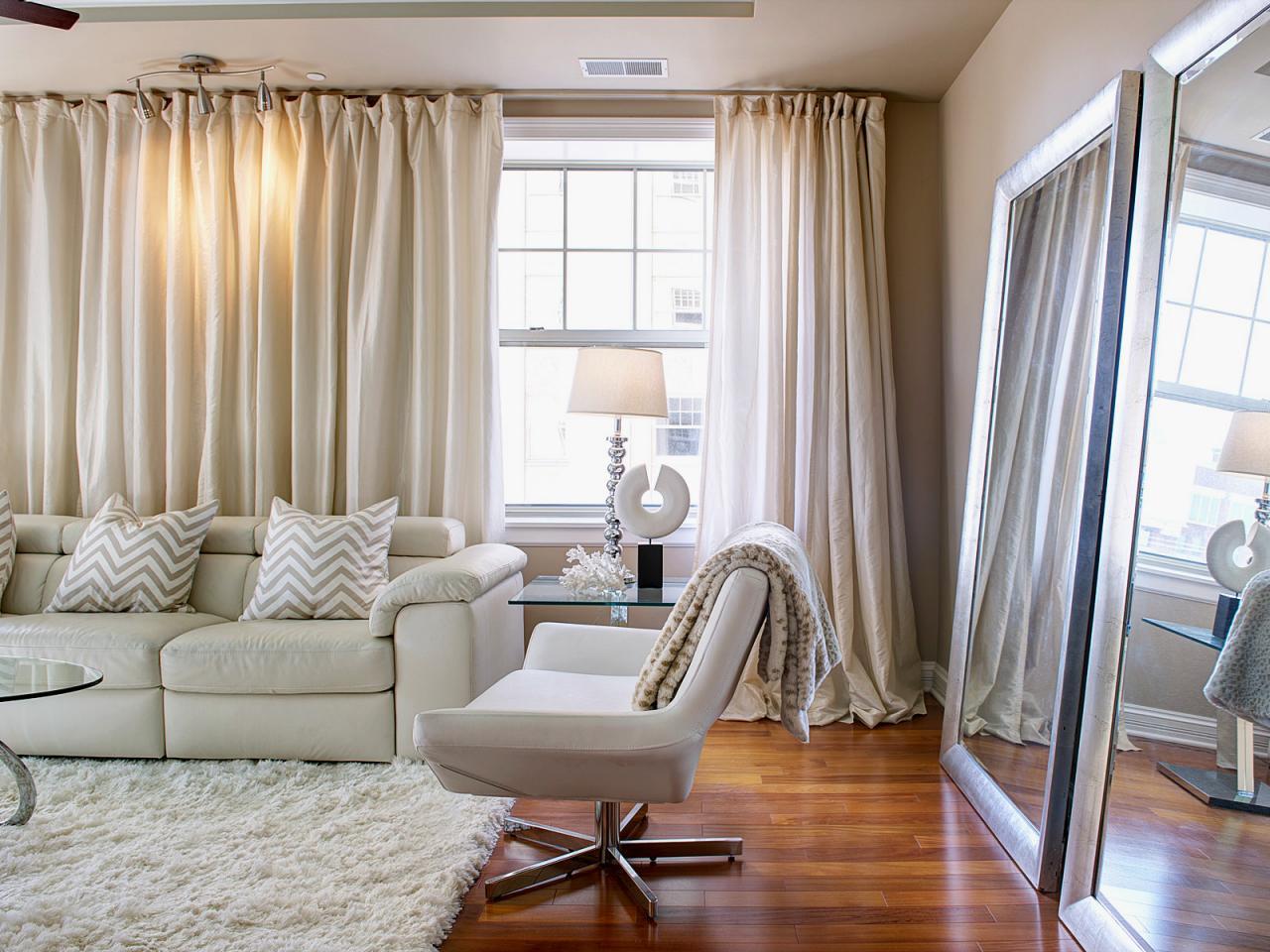 Дизайн шторы в гостиной