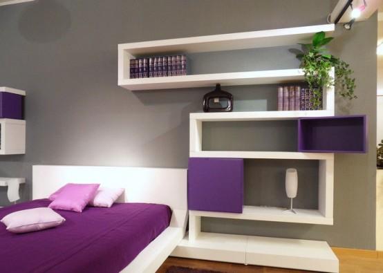 Полки настенные фото интересный дизайн: гостиная, спальня, детская, кухня