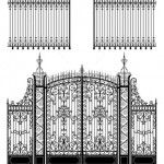 stock-vector-wrought-iron-gate-and-fence-35413504