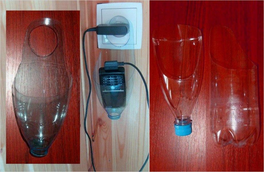 Поделка из пластиковой бутылки для туалетной бумаги 82