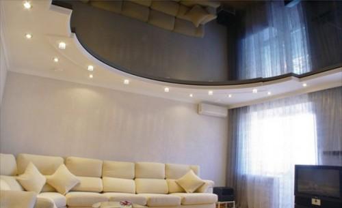 Фото потолков из гипсокартона в зале: дизайн и идеи