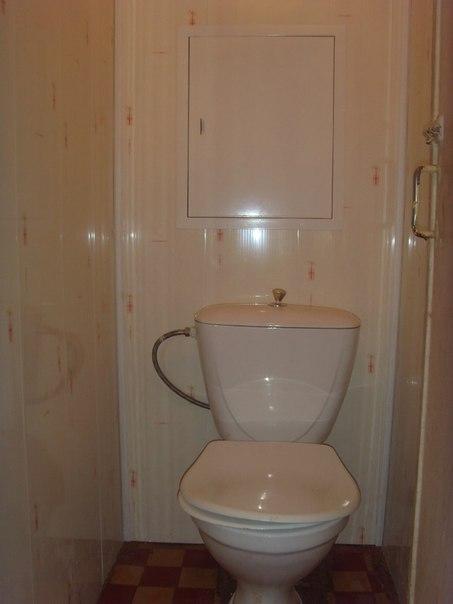 Ремонт туалета панелями своими руками фото