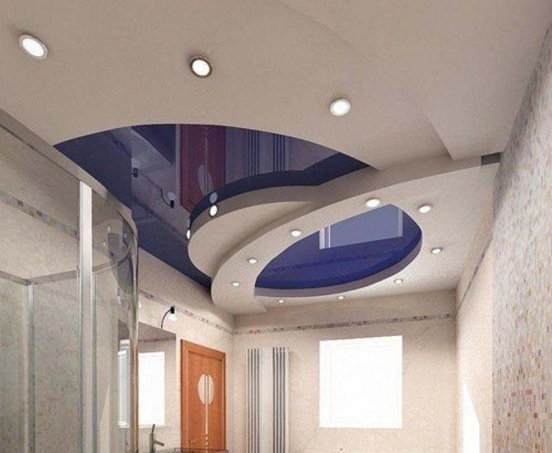 Дизайн и фото многоуровневых потолков