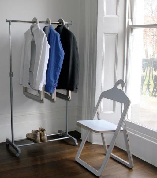 Вешалка для одежды напольня в виде стула