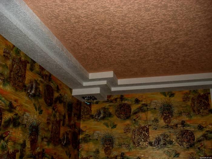 Декоративная штукатурка своими руками фото потолков