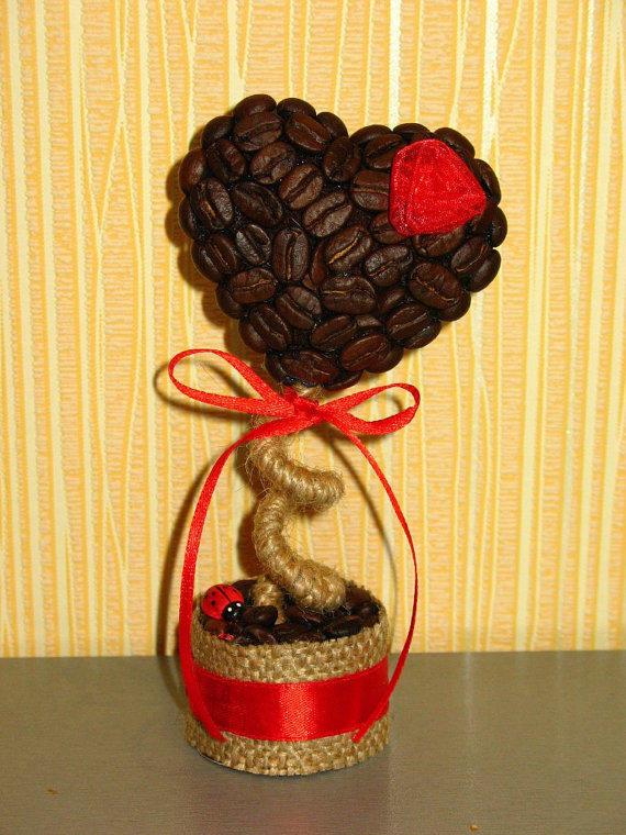 Кофейное дерево своими руками на подарок фото