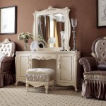 Antique-Dressing-Table-With-Mirror-And-Stool-For-Luxury-Bedroom-Decor-Ideas