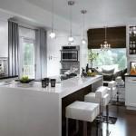 Built-in-Kitchen-Island-with-Breafast-Bar-Design