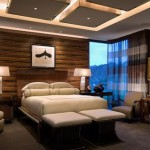 Chic-ceiling-design-with-multiple-illuminated-squares-for-the-lavish-bedroom