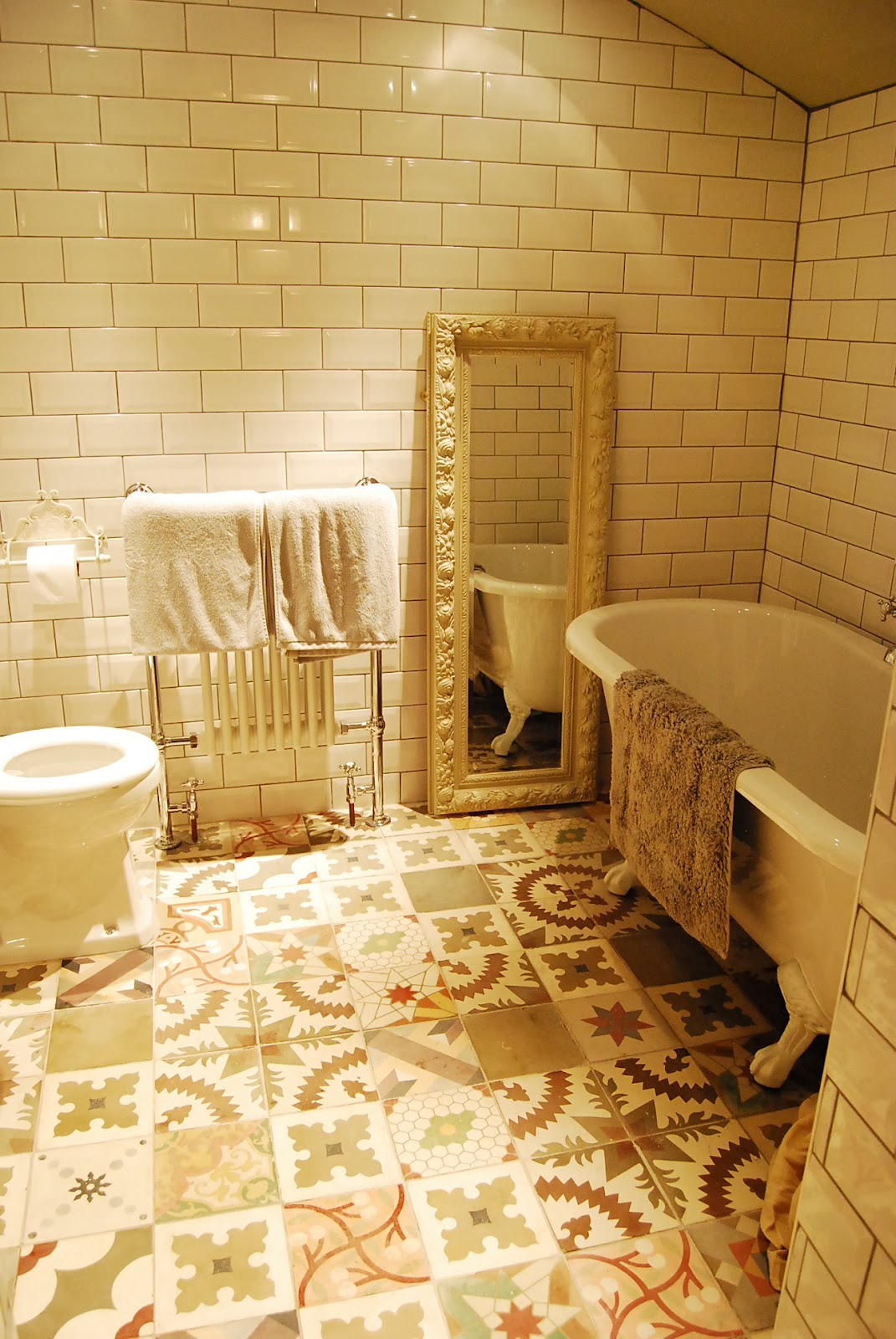 Spanish tile bathroom
