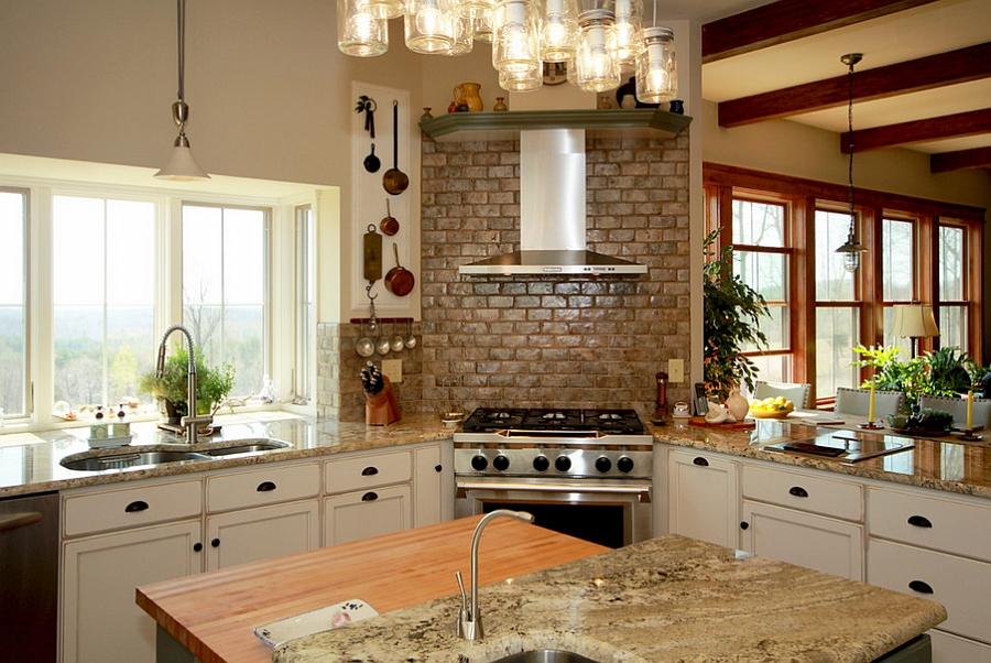 Кухни с угловыми вытяжками фото