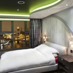 Futuristic-styled-contemporary-bedroom-design-with-a-stunning-ceiling