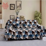 Home-textile-185-200CM-blue-orange-check-print-100-cotton-canvas-Sofa-cover-Modern-style-Sofa