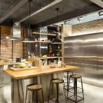 Kitchen-Breakfast-Bar-Island-Stainless-Steel-Units-Loft-Style-Home-Terrassa-Spain
