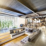 Living-Room-Sunken-Sofa-Open-Plan-Loft-Style-Home-Terrassa-Spain