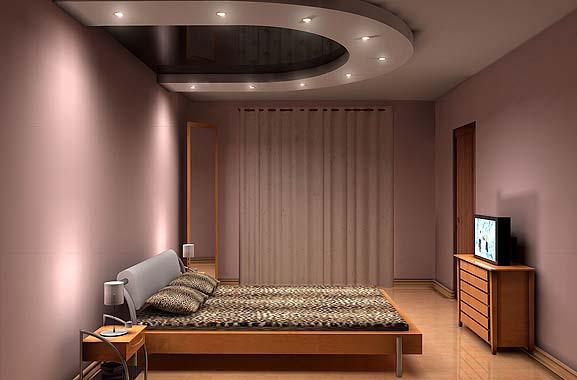 Дизайн потолков маленькой спальни