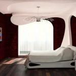 Plasterboard ceilings in the bedroom1