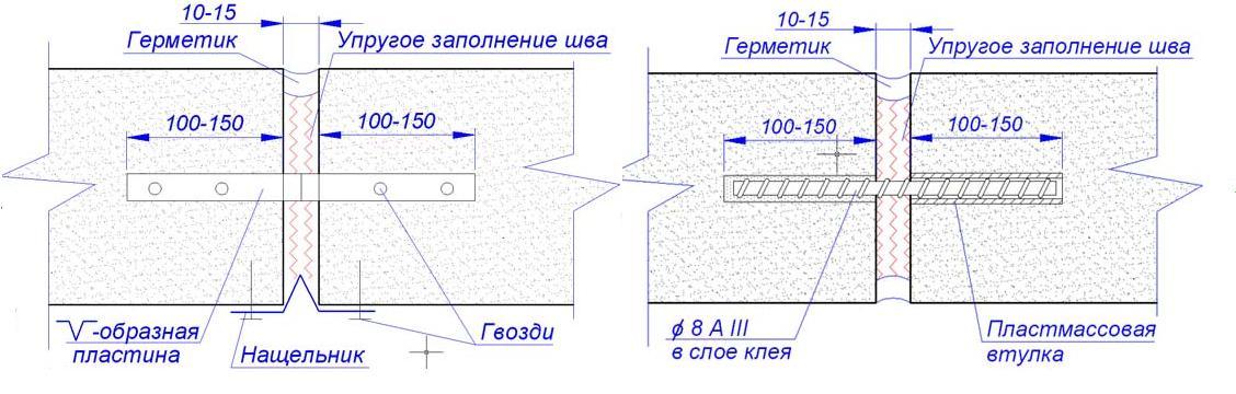 Как сделать деформационные швы 435