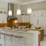 Rocky-kitchen-bar-with-wooden-stools