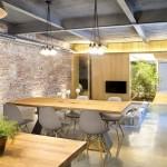 Wood-Dining-Table-Pendant-Lighting-Living-Room-Loft-Style-Home-Terrassa-Spain