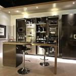 Ultra Modern Kitchen With Sleek Kitchen Bar Designs